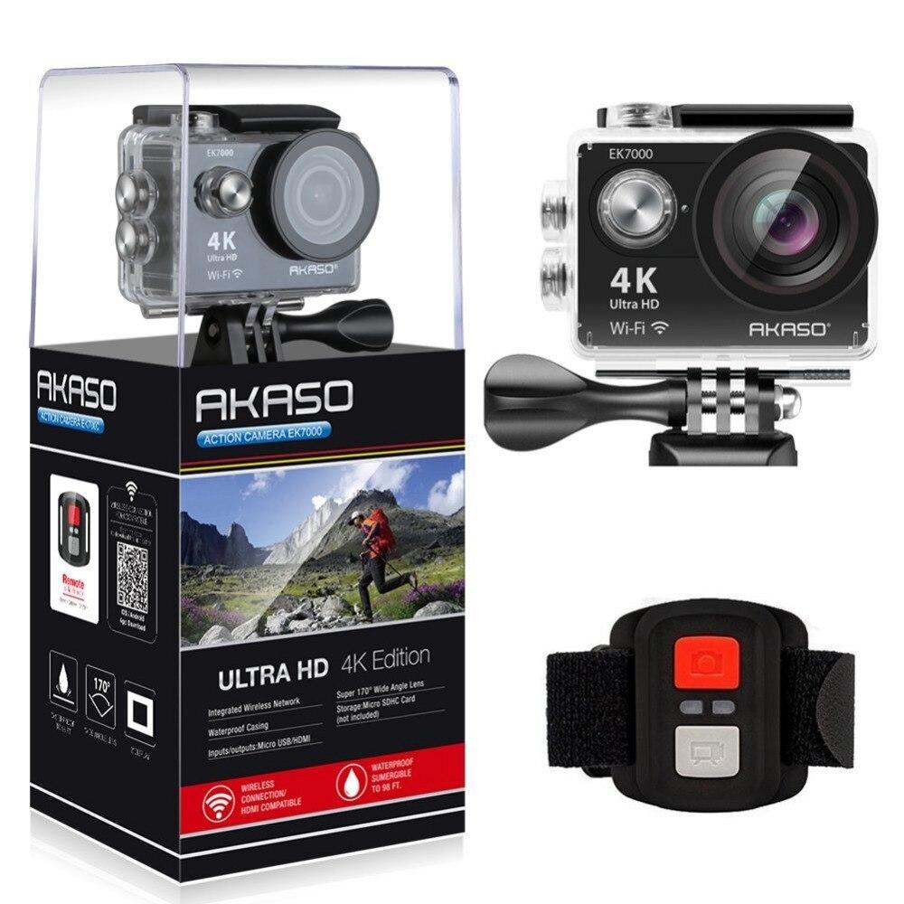 AKASO EK7000 4k WIFI Outdoor Sport Action Kamera Ultra HD Wasserdichte DV Camcorder 12MP Extreme Unterwasser Selfie Stick Stativ