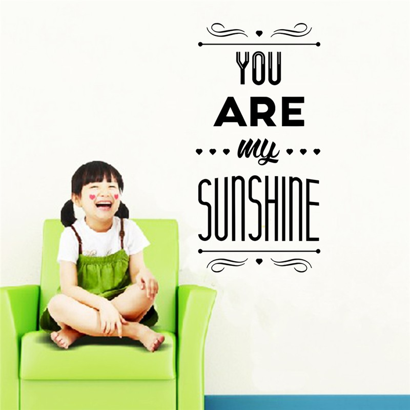 You Are My Sunshine Letters Wall Decals For Kids Room Bedroom Home Decor Diy Removable Wall Stickers Art Vinyl Valentine Gift