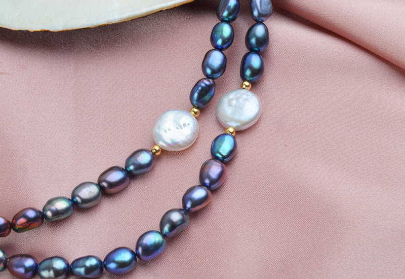 HTB1bry asrrK1RjSspaq6AREXXau ASHIQI Black Natural Freshwater Baroque Pearl choker Necklace for Women 925 Sterling Silver Jewelry Fashion Necklaces 2019