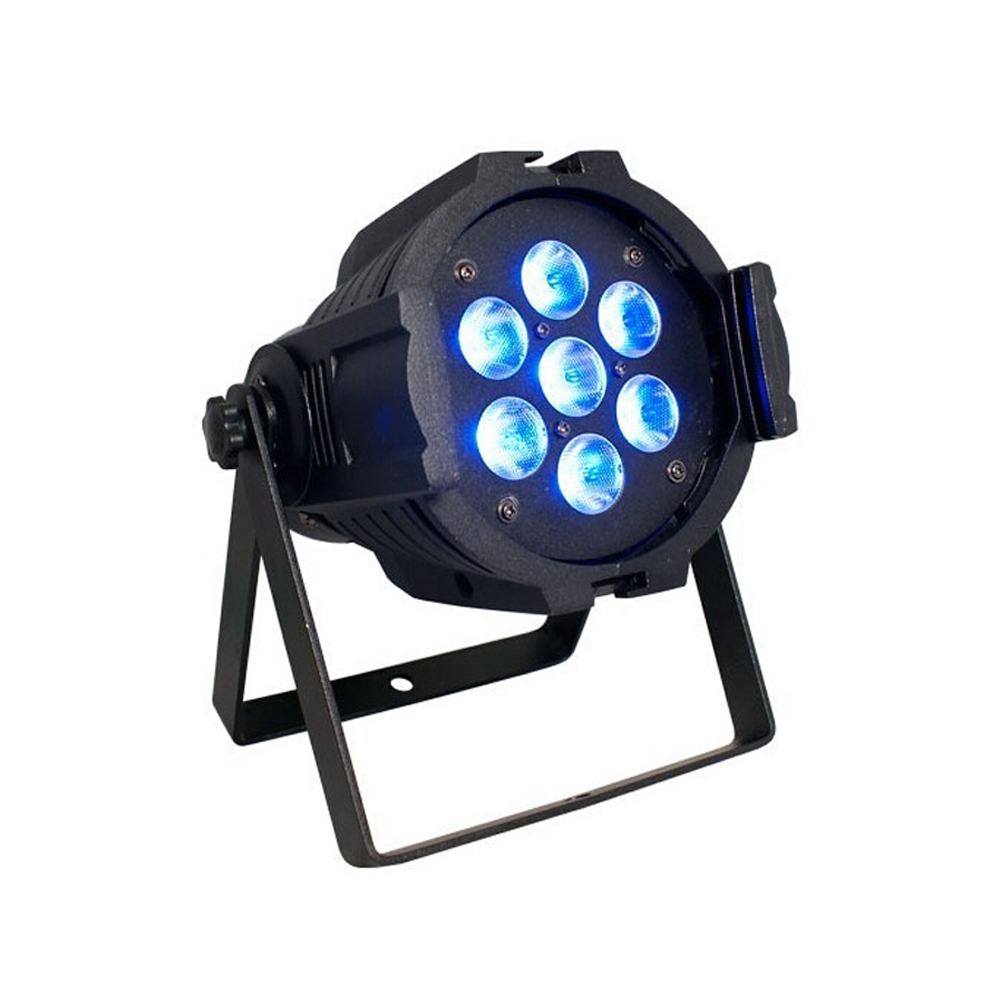 цена на DHL Free shipping 7*10W 4in1 RGBW quad colors Led Stage par Light High Power With DMX512 Master Slave DJ Equipments Controller