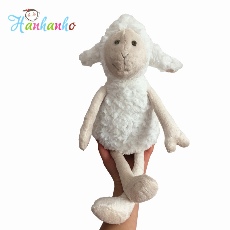 18 inch High Quality Plush White Sheep Soft Baby Toy Kids Sleeping Doll Stuffed Cartoon Animal  Children Gift stuffed animal 120cm simulation giraffe plush toy doll high quality gift present w1161