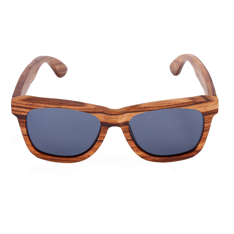 02cea05c33  Marte Joven  Vintage Square Anti Glare Polarized Zebra Wood Sunglasses  Women Men Best Wooden Driving Sun Glasses Eyewear Sale-in Sunglasses from  Apparel ...
