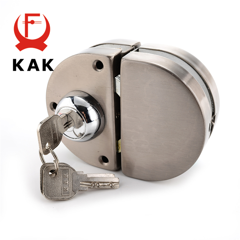 KAK Double Glass Door Lock 304 Stainless Steel Double Open Frameless Door Hasps For 10-12mm Thickness Furniture HardwareKAK Double Glass Door Lock 304 Stainless Steel Double Open Frameless Door Hasps For 10-12mm Thickness Furniture Hardware