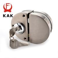 KAK Double Glass Door Lock 304 Stainless Steel Double Open Frameless Door Hasps For 10-12mm Thickness Furniture Hardware