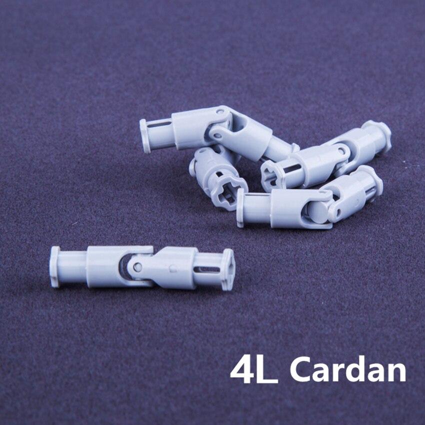 10pcs/lot DECOOL Technic Parts UNIVERSAL JOINT 4L Cardan Compatible With Legos 9244 MOC DIY Blocks Bricks Parts Set