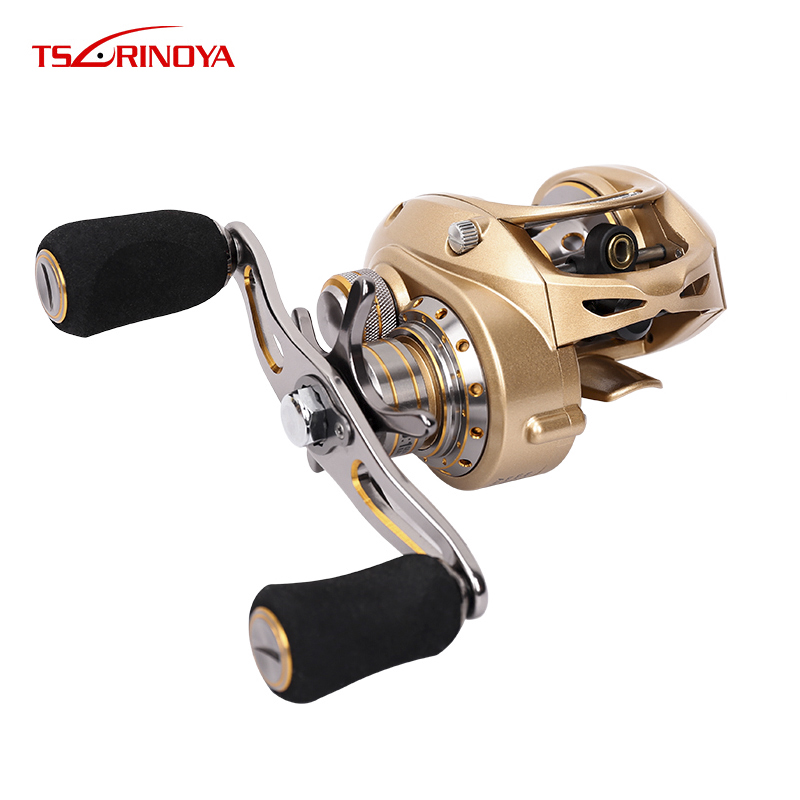 TSURINOYA EX-150 All-metal Body Bait casting reel Gear ratio 7.0:1 Drag 7kg Carbon side cover Lure Reel Baitcast reel extrema ratio mf1 full auto ex 133mf1f autodwr khaki