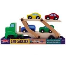 Детский деревянный двойной транспортный грузовик имитация игрушечного