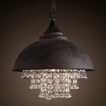 วินเทจโคมไฟลอฟท์แสงโคมระย้าคริสตัลที่ทันสมัยจี้ห้อยไฟสำหรับบ้านโรงแรมร้านอาหารตกแต่ง