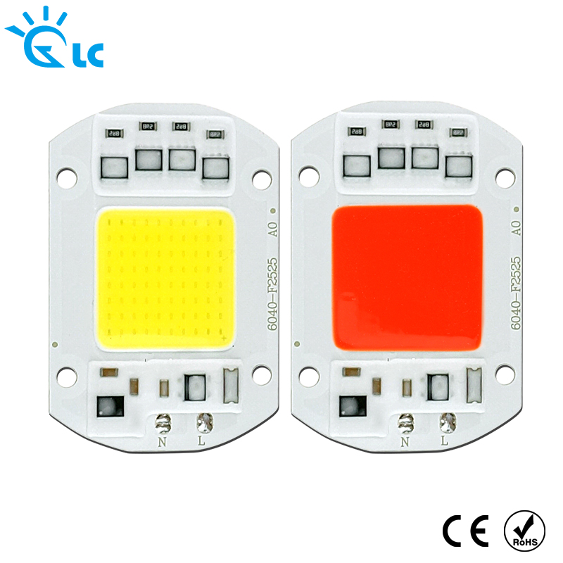 220V LED Chip 20W 30W 50W LED Lamp 220V Input Smart IC Driver Fit For DIY LED Floodlight Spotlight Cold Warm Red Green Blue