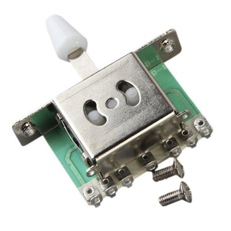 5 Way Blade Selector Switch White Knob For Strat Electric