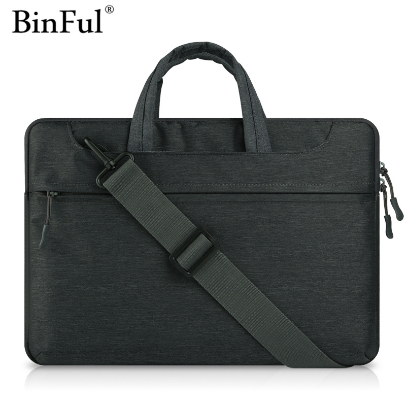 BinFul Laptop Bag Sleeve Case for MacBook Air 13 inch 11 Pro Retina 12 13 15 handle shoulder strap notebook bag 14 15.6'' Laptop пила дисковая redverg rd cs190 75