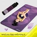 185 cm * 80 cm Colchonetas de Yoga de Impresión 3D Hoja Gimnasio Body Building Ejercicio Estera 6mm Esteras Deporte Gruesa Estera de Yoga