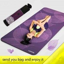 185cm*80cm Yoga Mats 3D Print Leaf Fitness Exercise Mat Body Building 6mm Sport Mats Thick Yoga Mat