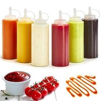 Kitchen Plastic Squeeze Bottle Sushi Tool Condiment  Mustard Dispenser Sauce Vinegar Oil Ketchup Gravy Cruet Kitchen Gadgets Gravy Boats    -