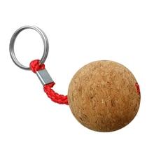 3.5cm Single Ball Cork Keyring Buoyant Key Ring Marine Sailing Boat Float Replacement Acce