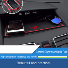 QHCP Non-slip Dashboard Mat Car Ornament Silicone Anti-Slip Sticky Pad Phone Holder For Subaru Forester Outback Legacy XV 2015+