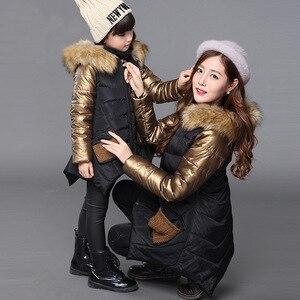 Image 3 - אופנה החורף לעבות חם כותנה ילד מעיל ילדי הלבשה עליונה טלאי פרווה צווארון תינוק בנות מעילי 2 14 שנים ישן
