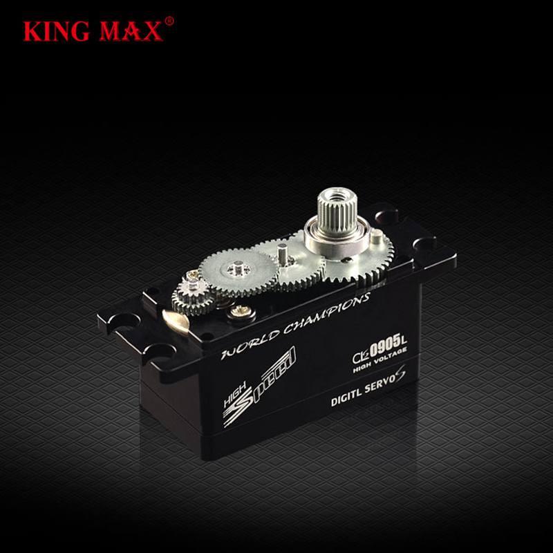 KINGMAX CLS0905L étanche 51g 9kg. cm engrenage métallique profil bas CNC servo numérique boîtier en aluminium pour RC 1/8 1/10 voiture de course dérive