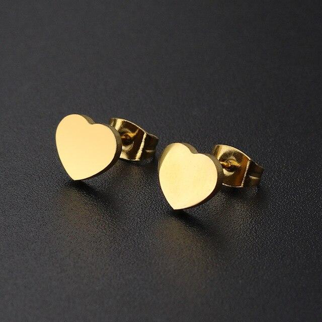 Купить женские серьги гвоздики из нержавеющей стали черного и золотого