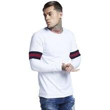 MarKyi 2019 spirng new long sleeve t shirt design Eu size 3xl striped tee homme slim camiseta hombre