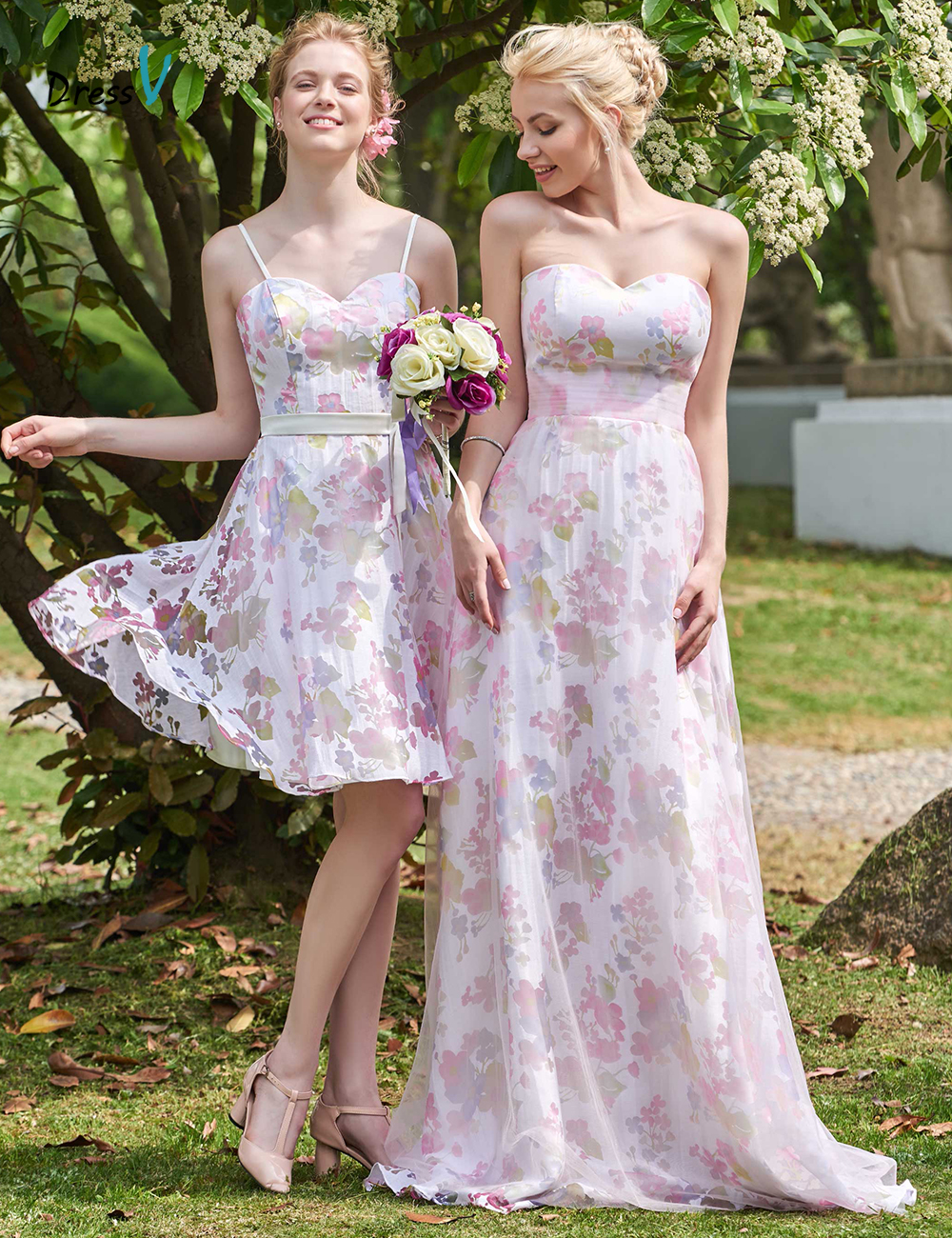 Online Get Cheap Short Printed Bridesmaid Dresses -Aliexpress.com ...