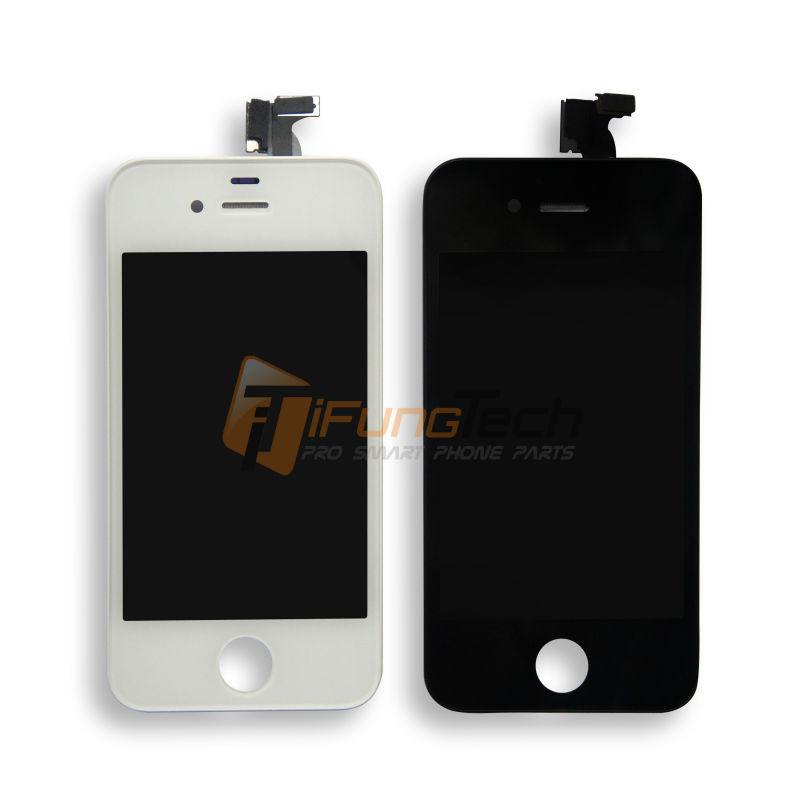 Best Quality AAA LCD Black/White For iPhone 4 4G 4S LCD Screen Assembly Digitizer Display Replacement With Touch Free Shipping black white lcd touch screen lens display digitizer assembly replacement for iphone 4 4g gsm cdma