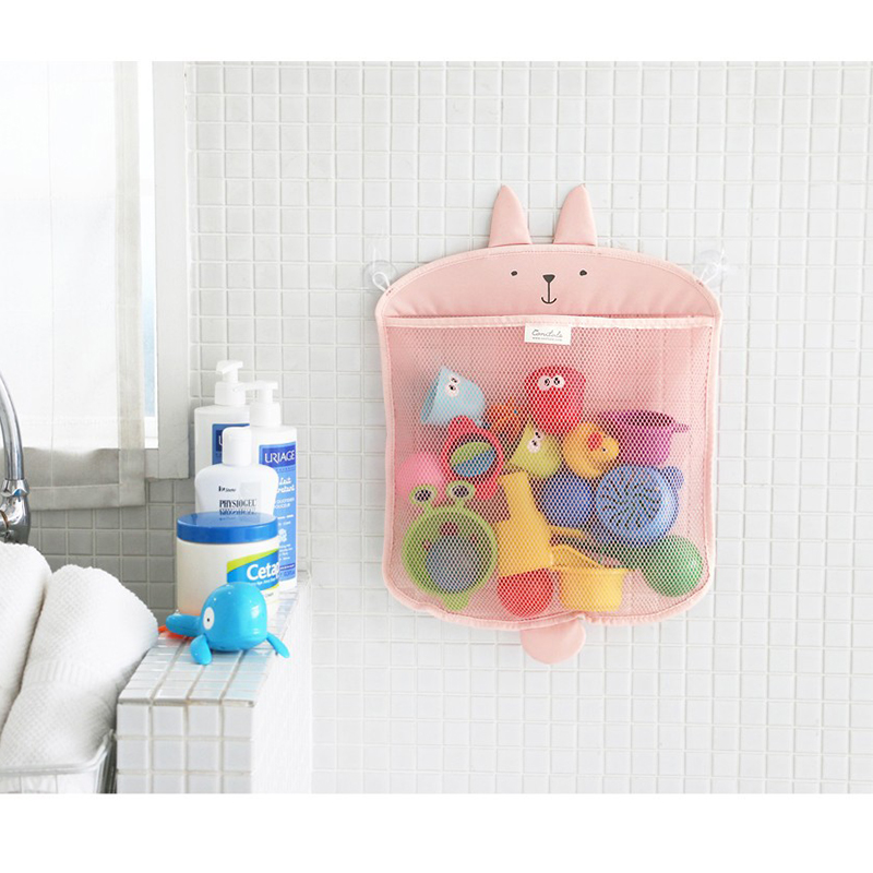Baby Bathroom Mesh Bag For Bath Toys Bag Kids Basket For Toys Net Cartoon Animal Shapes Waterproof Cloth Sand Toys Beach Storage