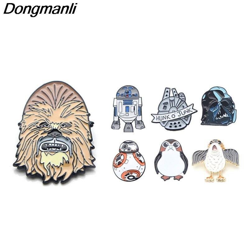 Dongmanli Star Wars Dark Vador Épingles En Émail En Métal Cool Badges Icône sur Le Sac À Dos Broche Badges pour Vêtements M2572
