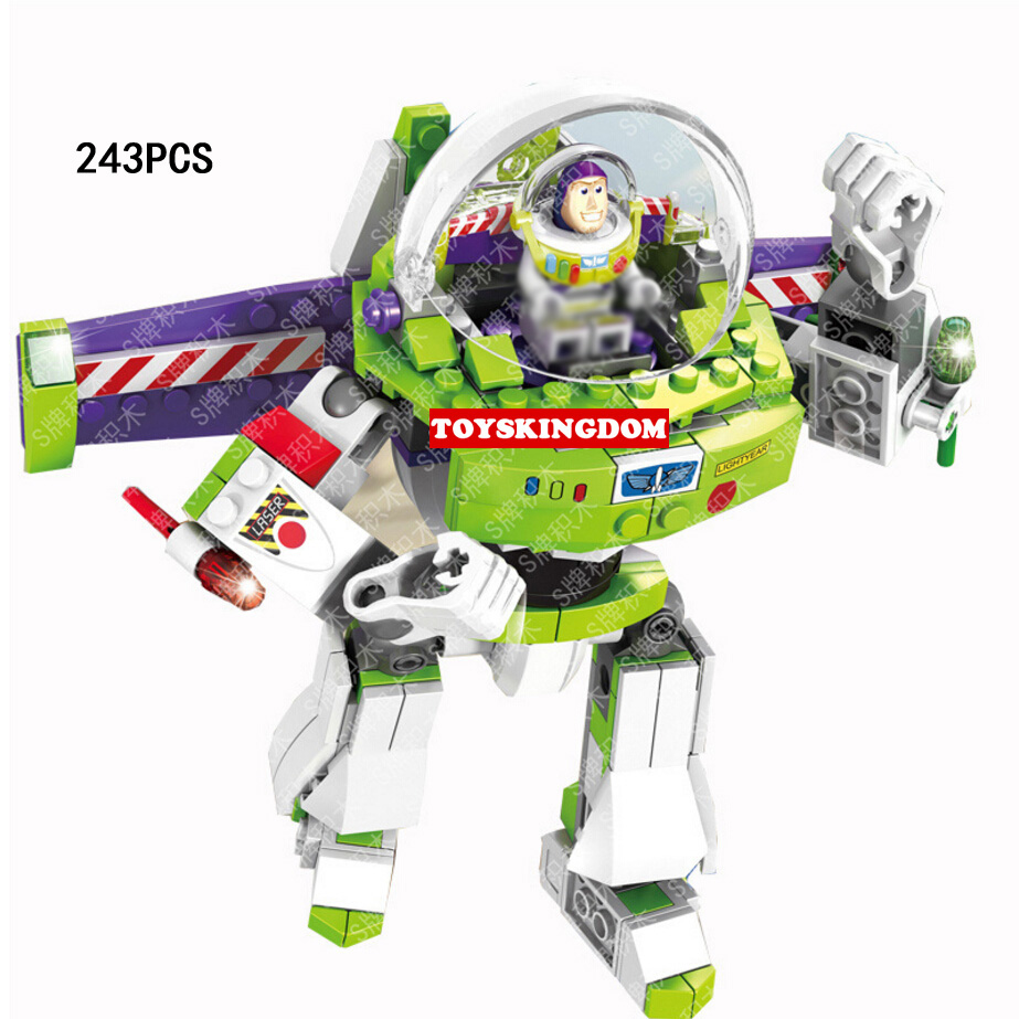 SY941 243pcs Compatible Legoed Toy story buzz lightyear mecha Building Blocks bricks Educational Kids Toys For children gifts 5pcs lots 2017 film extraordinary corps mecha five beast hand collection model toy