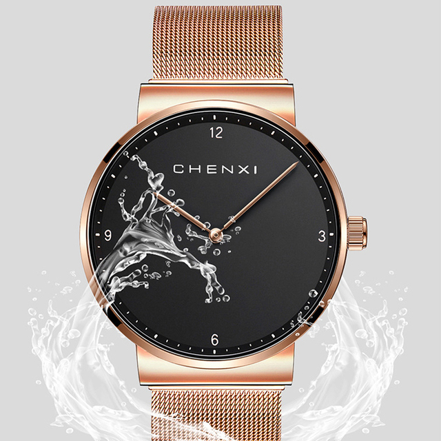 Fashion CHENXI Brand Women Man Lovers Casual Minimalism Watch Quartz Wristwatch