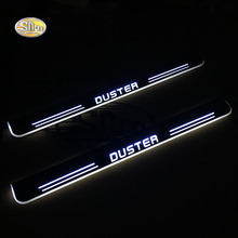 SNCN LED door sill for Renault Duster Led moving lights scuff plate welcome light Welcome pedal