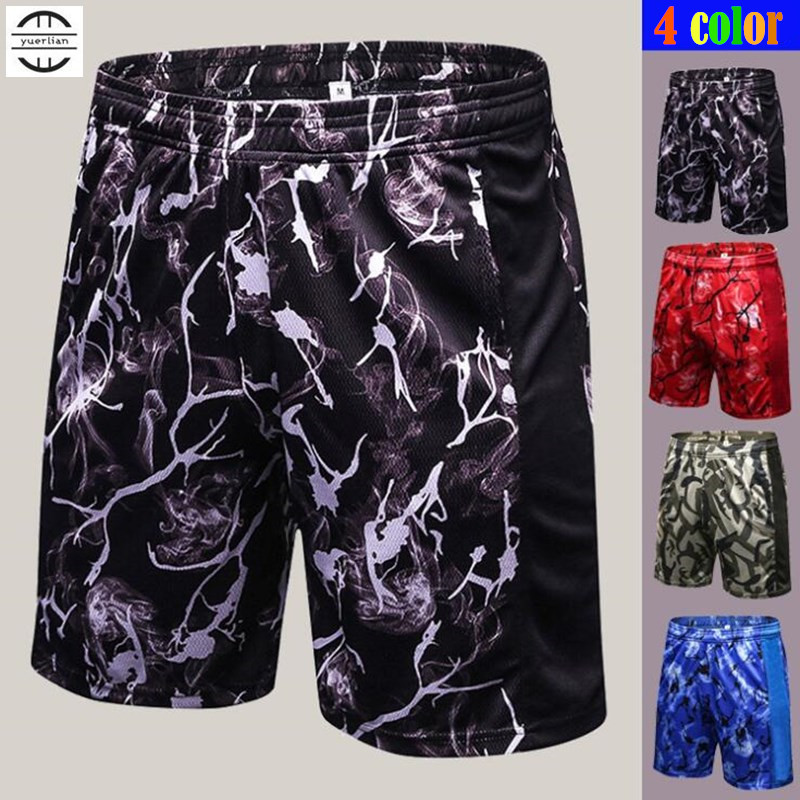 120pcs Men Fitness Half Shorts,High Elastic Breathing Fabric Printing Sweat Quick-dry Wicking Sporting Loose Casual Fifth Shorts