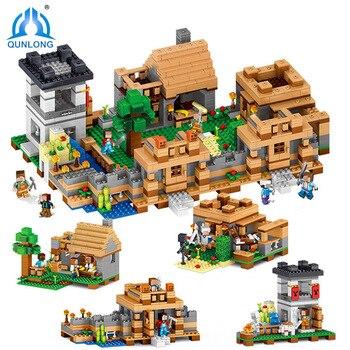 Piezas Village Minecraft Dream Compatible Construcción World 1221 Regalos Bloques My Para Legoin Niños Series De Ladrillos Juguetes vmn0wON8