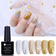 UR SUGAR Champagne Glitter Gold Silver Nail Gel 7.5ml Diamond Platinum Varnish Empapa del barniz UV Laca de manicura Barnices