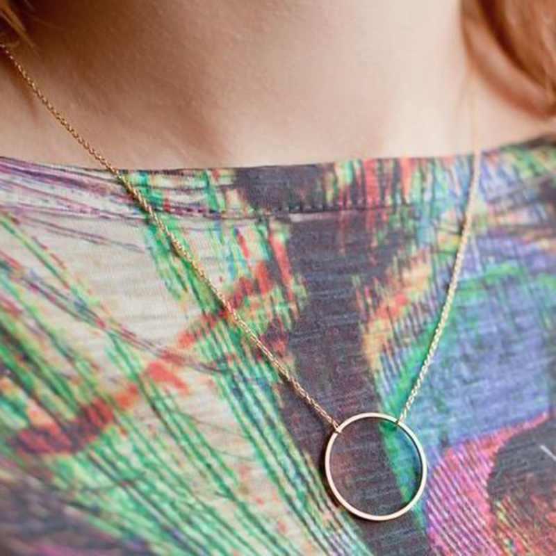 2018 Mới Nóng Thời Trang Vàng Màu Vòng Tròn Mặt Dây Chuyền Vòng Cổ Maxi Chokers Tuyên Bố Necklaces Đối Với Phụ Nữ Jewelry