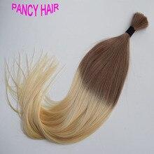 7A Straight Bulk Hair Ombre Human Hair for braiding #6/613 Colorful Hair bulk Brazilian Virgin Hair 3pcs/lot FAST Shipping
