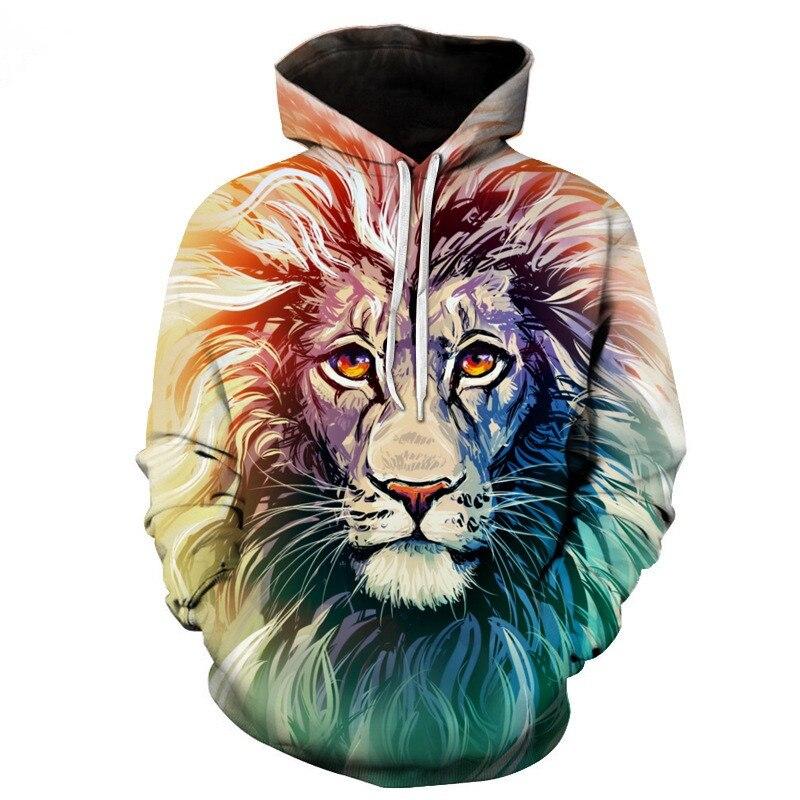 BIAOLUN New Fashion Men/Women 3d Sweatshirts Print Golden Lightning Lion Hooded Hoodies Thin Hoody Tracksuits Tops