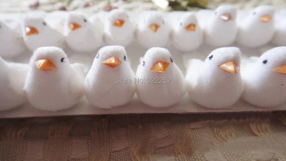 2cm handmade artificial foam pe simulation birds white for Artificial birds for decoration