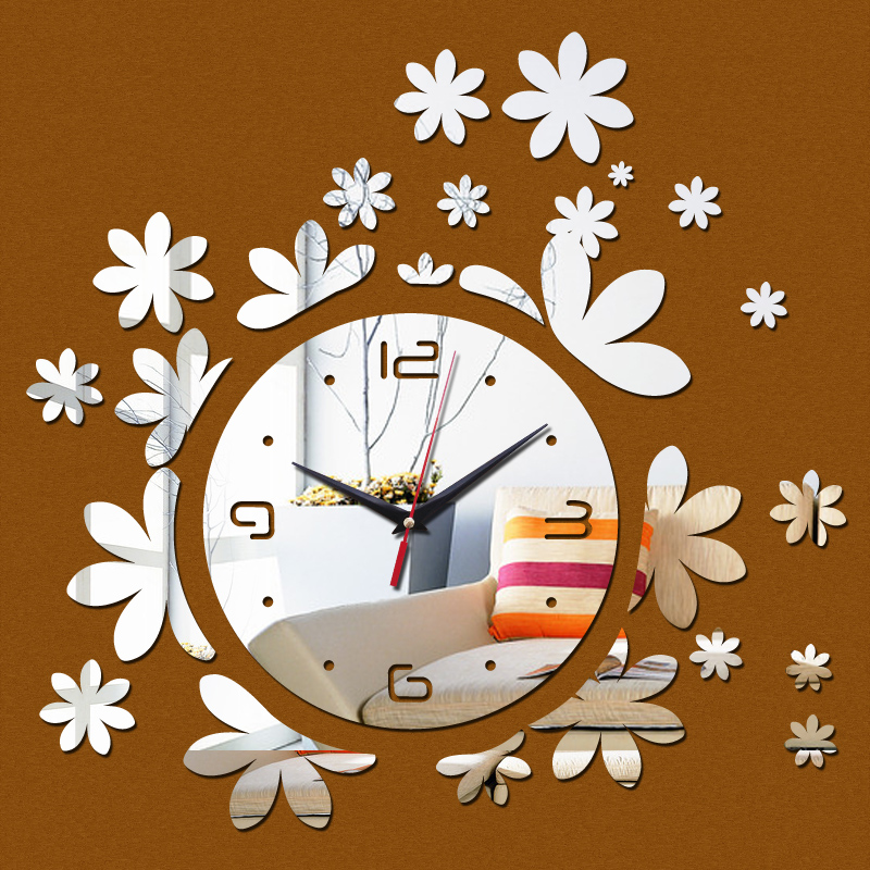 2016 Hot Sale Mirror Wall Clock Clocks Modern Design