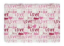 Floor Mat Sweet pink Vintage Love Typography Print Non slip Rugs Carpets alfombra For font b