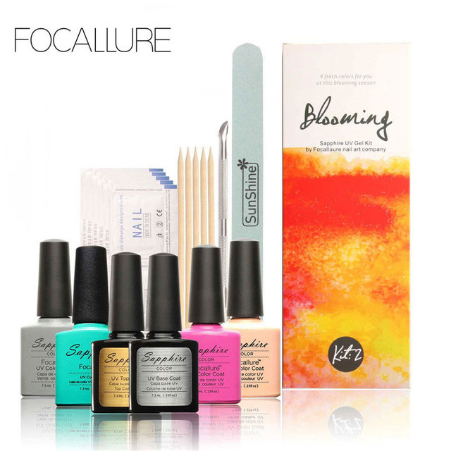 Focallure Perfect Uv Gel Nail Polish Kit Set Nail Art Tools Diamond