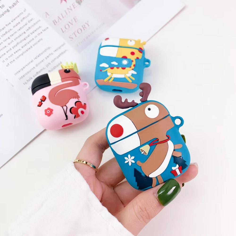 Silicone Earphone Case For AirPods Case Cartoon Headphone Case For Apple Airpods 2 Case Cover For Air Pods Earpods Accessories