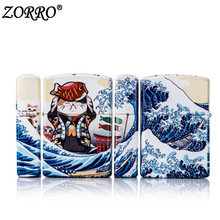 Zorro Lighter Kerosene Oil Petrol Lighter Refillable Cigarette Kerosene Lighter Wind-proof Birthday Gifts Fire Machine canton gle 436 mocca white