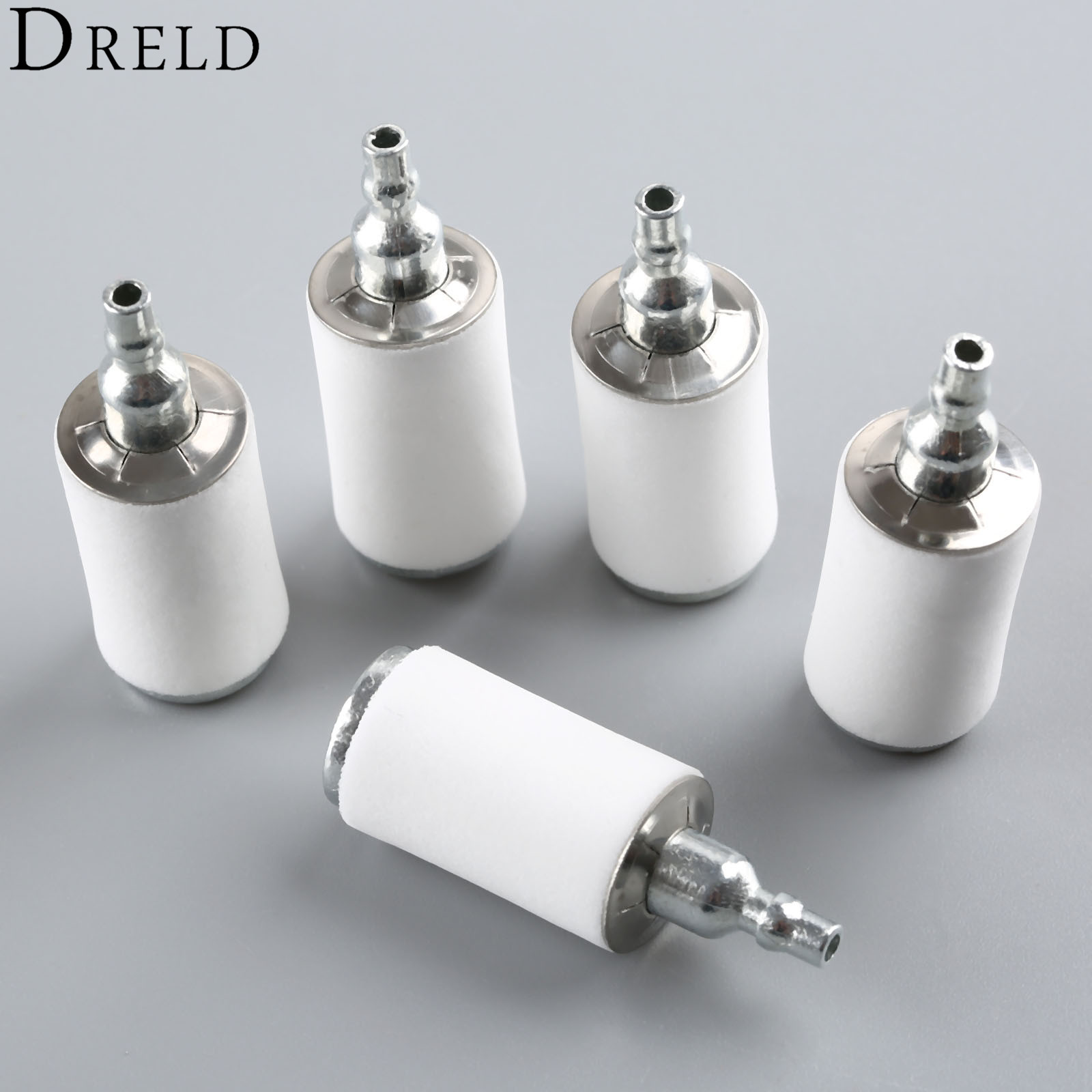 DRELD 5Pcs Gas Fuel Filter For Weedeater Poulan 2250le P1500 P3500 Ppb330 Craftsman Trimmer Chainsaw Blower