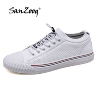 High Quality Skater Shoes Cool Street Shoes White Sneakers Men Vulcanized Shoes Slip on Sneakers Men Genuine Leather