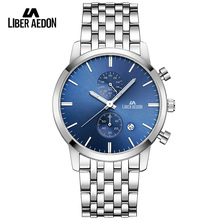 Liber Aedon Top Brand Luxury 2017 Sport Men Watches Waterproof Stainless Steel Band Quartz Mens Wristwatch Military Male Watch