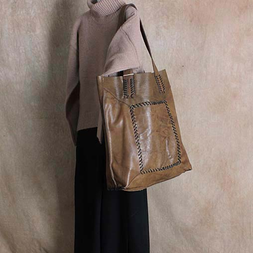 Vintage genuine leather big bags large capacity female brief first layer of cowhide one shoulder handmade 2017 personality 2018 genuine leather women handbag new handmade retro shoulder bag large capacity first layer cowhide female crossbody bags