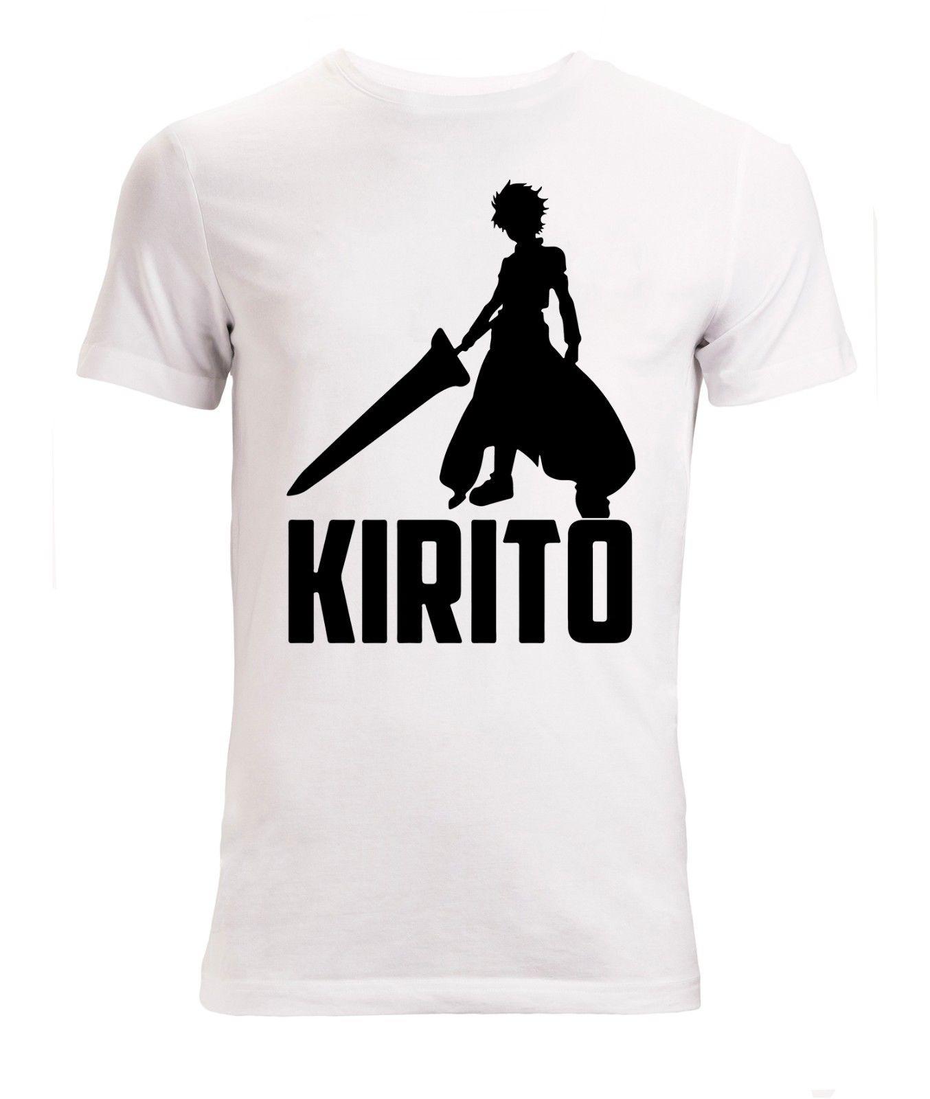 Sword Art Online Kirito Anime Manga Men's   T Shirt White Top 2018 New Arrival T-Shirt Short Sleeve Summer Style
