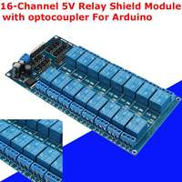 New 16 Channel 5V Relay Shield Module With Optocoupler For Arduino 180X90X20MM Electronic Integrated Circuits Board