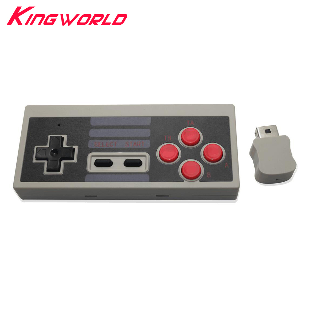 2sets Wireless Gaming Controller Gamepad Mini Buttons Classic Edition for Nintendo for NES With Wrireless Receiver